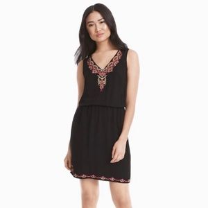 NWOT WHBM Black Embroidered Dress Small